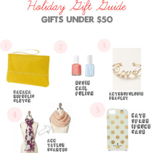 Holiday Gift Guide-Gifts under $50