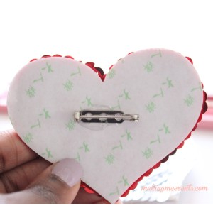 Making Me Events DIY Heart Pin